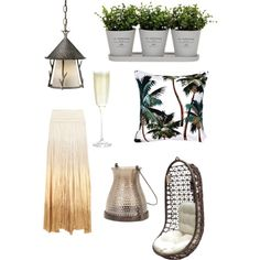 Summer nights by sabina88 on Polyvore featuring polyvore, interior, interiors, interior design, home, home decor, interior decorating, Panama Jack, Vaxcel Lighting, Torre & Tagus, Crate and Barrel and Donna Karan