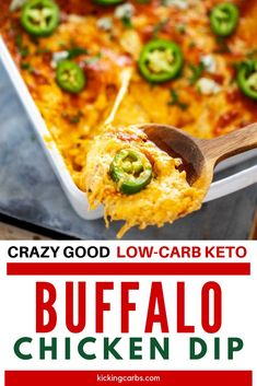 Anytime I can entertain without a lot of effort I am ecstatic. Keto Buffalo Chicken Dip is one of my go-to appetizers.  #wendypolisi #glutenfreerecipes #healthyglutenfree #diprecipes #buffalochickendip