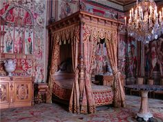 True bedroom of Louis XIV in Versalles, France.
