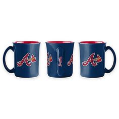 Drink to your team& success with the MLB Sculpted Café Mug. Perfect for your morning coffee, tea, or any other beverage, this mug is decorated in the colors and graphics of your favorite pro baseball team and features the team& name on the handle. Basketball Rules, Pro Baseball, Baseball Training, Braves Baseball, Baseball Games, Baseball Necklace, Team Success, Team Names, Atlanta Braves