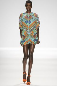 loving this #brightprint - it's so suitable for spring! {Mara Hoffman #Spring2014 Ready-to-Wear Collection} #nyfw