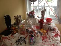 candy buffet for The Walking Dead party.