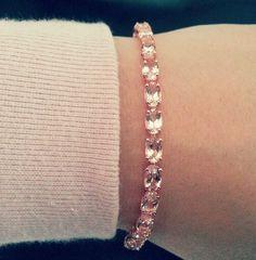 Tennis Bracelet 12ct Of Morganite Set In Rose Gold Obsessed Roses