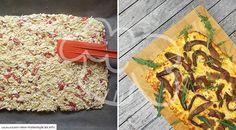 Low Carb Rezept für eine schnelle Low-Carb Schüttelpizza. Wenig Kohlenhydrate und einfach zum Nachkochen. Super für Diät/zum Abnehmen.