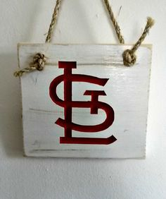 St. Louis Cardinals ~ Wood Wall Decor With Carved And Painted Emblem #homedecor #Cardinals #woodsign