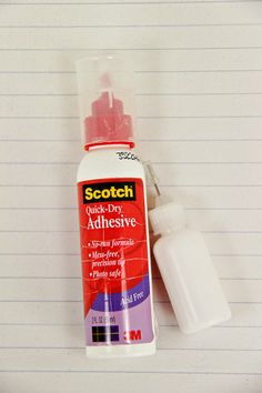 """""""It is a needle tipped squeeze bottle that I fill with Scotch's Quick-Dry Adhesive. If you Google """"needle tipped squeeze bottle"""", """"solvent bottle"""", or """"oiler bottle"""" you should get some hits and multiple options as to a source to obtain your own. It is definitely an essential tool in my office. Don't know what I'd do without it. Certainly wouldn't have been able to put together that 3D maze without its help"""""""