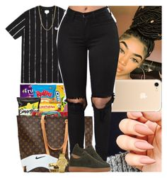"""Untitled #718"" by msixo ❤ liked on Polyvore featuring Bianca Pratt, Louis Vuitton, Nike air force, Nike Golf and GUESS"
