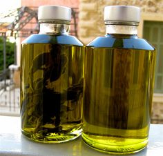 Sage Infused and Plain Olive Oil the ultimate food luxury by OliveAll, $25.00