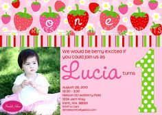 Free Strawberry Birthday Invitations Ideas