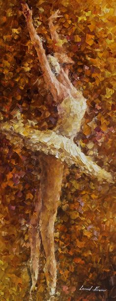 "BALLET OF THE SOUL - Palette Knife Oil Painting On Canvas By Leonid Afremov - 16""X40""  Click to close image, click and drag to move. Use arrow keys for next and previous."