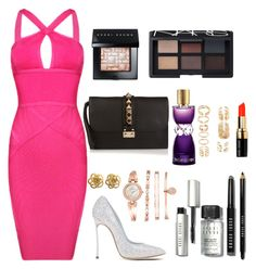"""night party"" by aurel-awaloei on Polyvore featuring Posh Girl, Casadei, Valentino, Bobbi Brown Cosmetics, NARS Cosmetics, Yves Saint Laurent, Anne Klein, Forever 21, women's clothing and women"