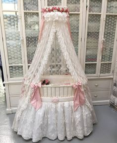 Royal Baby Crib from Angela-Lace Baby Bassinet, Baby Cribs, Baby Bedroom, Kids Bedroom, Royal Baby Party, Iron Crib, Baby Overall, Das Hotel, Royal Babies