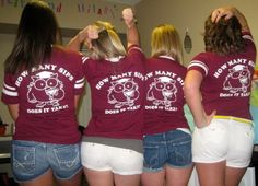 Sophomore year 2011 homecoming t-shirts before we went to the Taste of Ambrose and football game.
