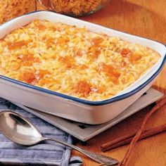 Apricot Cheese Kugel  We serve with Ham,we never have leftovers!