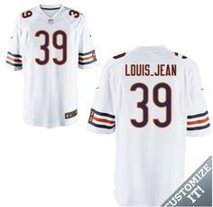 773ad8368 2015 NFL Chicago Bears #39 LOUIS_JEAN Elite Jerseys Super Bowl Jerseys, Nfl  Jerseys,