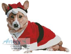Christmas Pup Cross Stitch Pattern http://www.artecyshop.com/index.php?main_page=product_info&cPath=41_42&products_id=431
