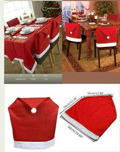 Christmas decoration ideas christmas ideas easy christmas home # christmas . Christmas Chair, Christmas Napkins, Christmas Table Decorations, Christmas Sewing, Diy Christmas Ornaments, Homemade Christmas, Simple Christmas, Christmas Home, Christmas Wreaths
