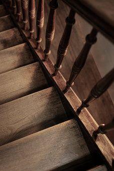 Secret cottage stairs.