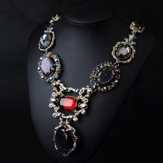 WHOLESALE FASHION JEWELRY ACCESSORIES NEW DESIGN LADY BIB STATEMENT ACRYLIC MIXED COLOUR NECKLACE COLLAR HOT PENDANT