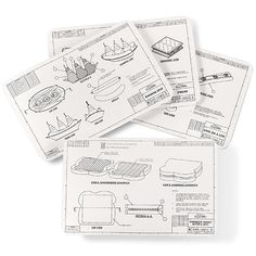 Engineering Blueprint Placemats $19.99