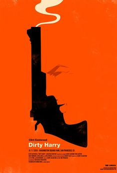 Clint Eastwood - Dirty Harry movies - poster by Olly Moss Tour Posters, Film Posters, Art Posters, Olly Moss, Poster Minimalista, Designers Gráficos, Graphic Designers, Saul Bass, Graphisches Design
