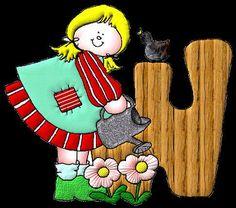 Alfabeto de muñecos de trapo. | Oh my Alfabetos!