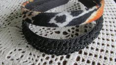 Leopard Fur Headband Black Beaded Headband 2 Headbands NOS 45 Cheetah Velvet Headband  ReVintageBoutique.Etsy.com