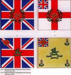 British 33rd (top) and 3rd  (bottom) Regiments of Foot.