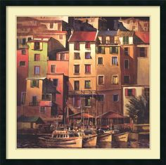 'Mediterranean Gold' by Michael O'Toole Framed Painting Print