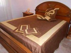 Completo letto in rasone bicolore con cuscini e tris abbinati