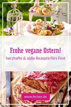 Rezept-Ideen für frühlingshafte Vorspeisen, Hauptgerichte und Desserts, sowie allerlei Köstlichkeiten für deinen veganen Osterbrunch. #vegan #ostern #veganeostern #osternvegan #osterrezepte #veganerezepte #veganeosterrezepte #osterbäckerei #veganeosterbäckerei #veganbacken #osterbrunch #osterfrühstück #osteressen #desserts #vorspeisen #veganeosteressen #veganevorspeisen #veganedesserts #ostermenü #hefezopf #ostergebäck #veganerhefezopf #vegankochen #rezepte #kochen #backen #lecker #leckermagazin Superfood, Brunch, Vegan Rice Pudding, Vegan Appetizers, Vegan Treats, Vegan Breakfast, Vegan Scones, Vegane Rezepte, Fancy Appetizers