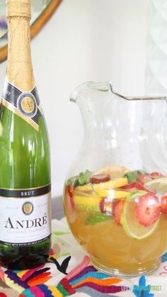 Champagne Sangria. So delicious and perfect for parties!