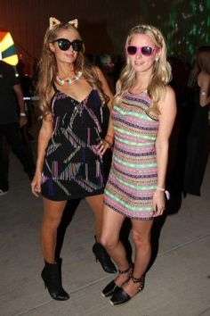 Paris Hilton wearing Christian Louboutin Black Simple 85 Leather Ankle Boots, Flower Children Only Meow Crown Candy and Italia Independent I-Plastik Zeb Metallic Sunglasses