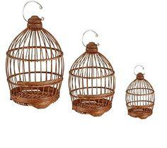 Cage à oiseaux en bambou x3: Amazon.fr: Cuisine & Maison