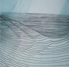 Wilhelmenia Barns-Graham, 'Linear MOvement Orkney 3', pen, ink and oil on card