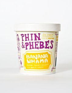 phine & phoebes ice cream #packaging #design