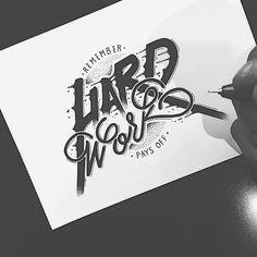 Hand Type Vol. 25 by Raul Alejandro Graffiti Lettering Fonts, Typography Quotes, Typography Letters, Creative Typography Design, Lettering Design, Hand Art, Typographie Inspiration, Calligraphy Text, Hard Work Pays Off