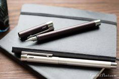 The Lamy Logo Fountain Pen is slender and sophisticated. Great for smooth writing and slim enough to fit in a Filofax pen loop!