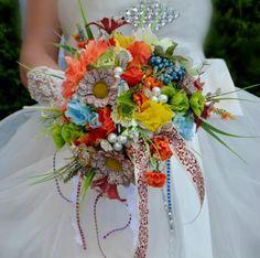 Accessoires - Hochzeit Brautsträuße Hippies - ein Designerstück von Wandadesign bei DaWanda