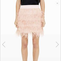 Club Monaco Blush Ostrich Skirt *NEW WITH TAGS* This fun and flirty skirt is a must have this spring! Pair with a cute top and strappy heels to complete the look! Club Monaco Skirts Mini