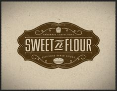 Sweet 'n Flour #Identity #Logo #Design #Branding #Badge #Vintage #Bakery