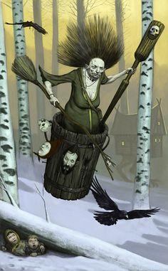 Lo Specchio-Cielo: Baba-jaga Gamba d'osso