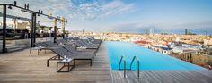 GRAND HOTEL CENTRAL, terraza Sky Bar en BCN | Saltando en la cama