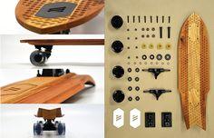 WHEELED | Handmade Hardwood Cruiser Skateboard by Marc V Brosseau, via Behance