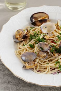 Casey Barber's Drunken Spaghetti with Clams via Design*Sponge