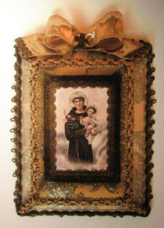 registos religiosos antigos - Pesquisa Google Sacred Heart, Religious Art, Craft Gifts, Altars, Porto, Prayers, Saint Antonio, Wreaths, Crafts