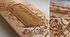 Laser engraved skateboard that looks so good, you hate to use it - laser engraving | Tumblr