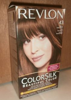 Revlon Colorsilk Beautiful Color 43 Medium Golden Brown Permanent What My Hair Is Wearing Right Now
