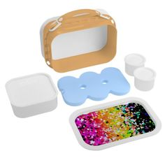 Lunch Box Mosaic Sparkley Texture Lunch Boxes #zazzle #lunchbox #mosaic #sparkley