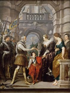 Pieter Paul Rubens - Medici Cycle: Henry IV Leaves for War in Germany and Confers Governing of the Kingdom on the Queen, March 20, 1610 #5 of series NOTES: Proves her claims of state
